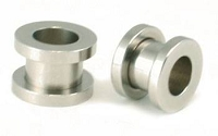 00g Stainless Steel Hollow Screw-On Plug