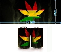 Marijuana 2 Coil Stickers