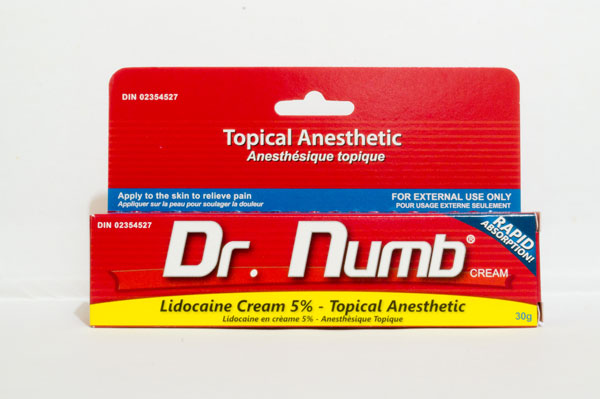 Dr numb topical anesthetic cream for Numbing for tattoo