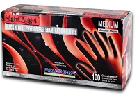 Night Angel Black Nitrile Gloves