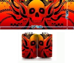 Crazy Skull Coil Stickers